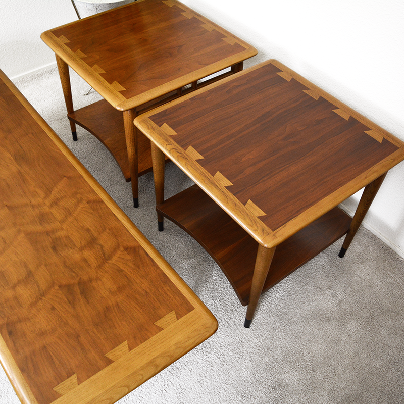 Set of 3 Mid Century Lane Acclaim Coffee Table and Side Tables by Andre Bus las vegas