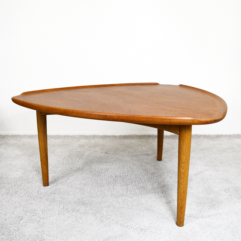 ​​Mid Century 1950s Danish Teak Guitar Pick Coffee Table by Poul Jensen las vegas