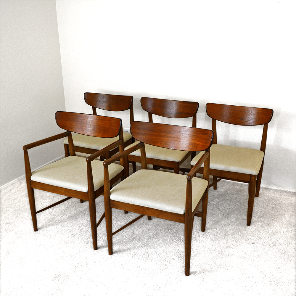 Mid Century Dania Dining Chairs by Merton Gershun for American of Martinsville las vegas