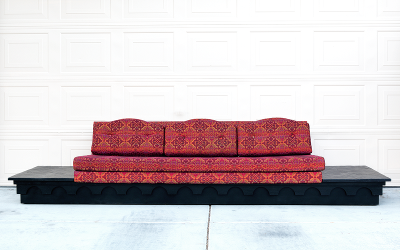 Mid Century Modern Adrian Pearsall for Craft Associates Strictly Spanish Platform Sofa las vegas