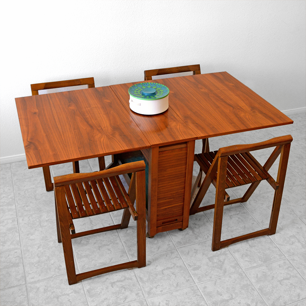 Mid Century Expanding Hide-Away Folding Dining Table and Chairs las vegas
