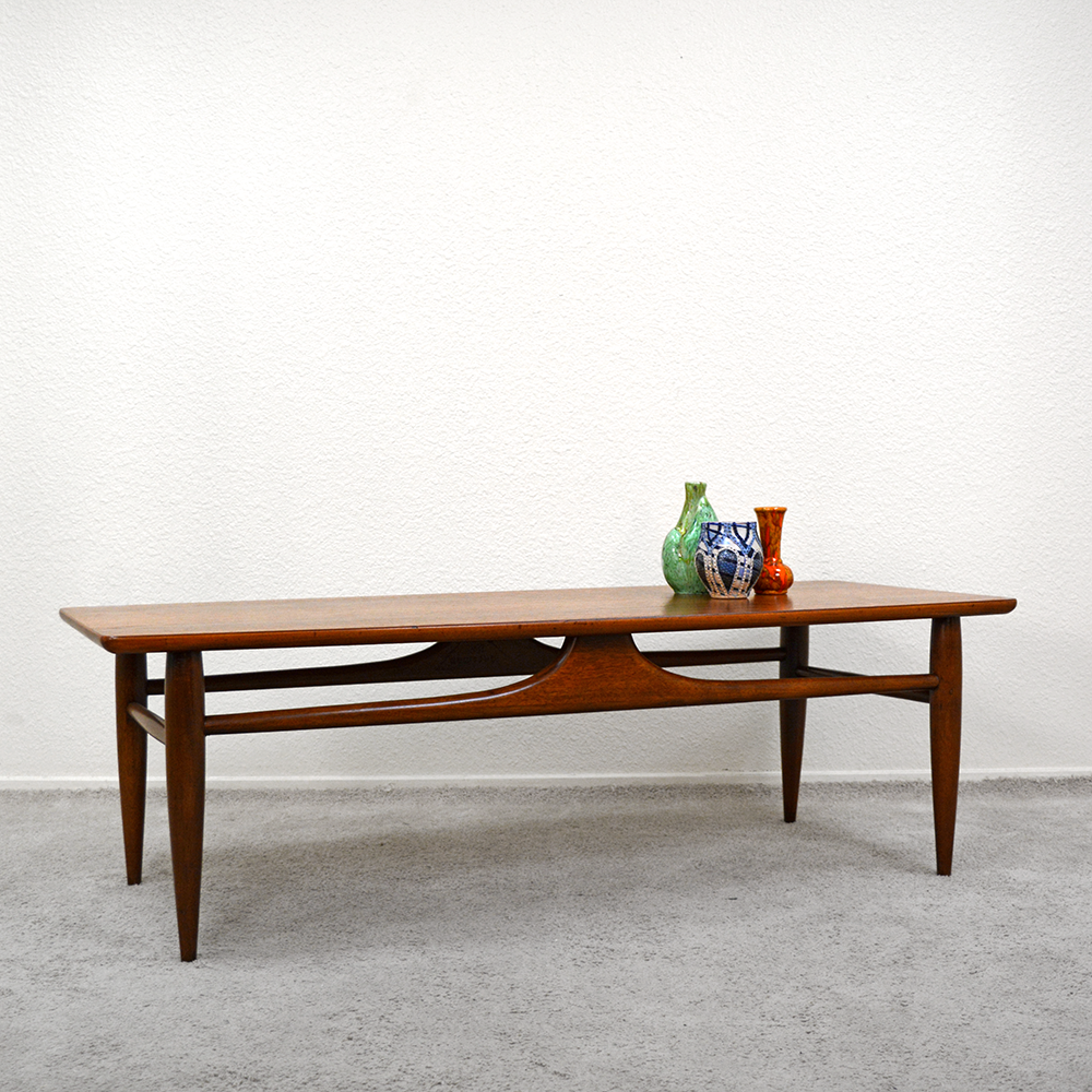 mid century walnut coffee table las vegas