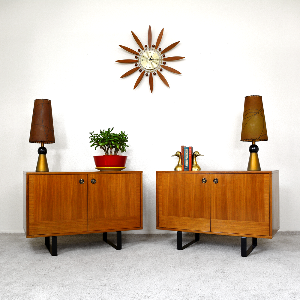 ​Mid Century Chrome and Smoked Glass Side Tables las vegas